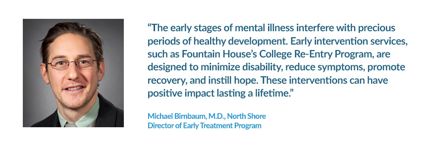 Clinician Michael Birnbaum Testimonial about the College Re-Entry program