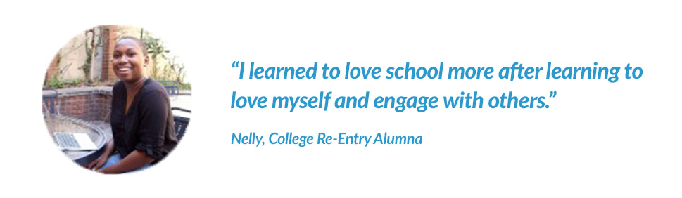 College Re-Entry Student Nelly's Testimonial