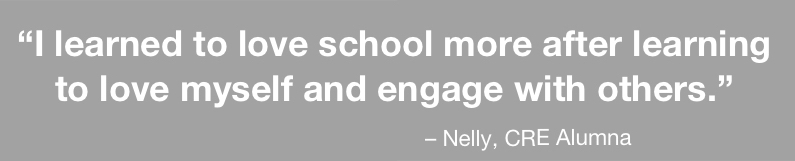 I learned to love school more after learning to love myself and engage with others.