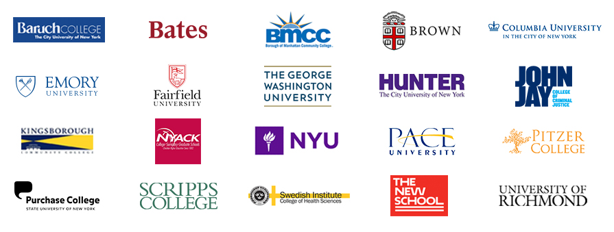 College Re-Entry has helped students return to over 25 schools including these